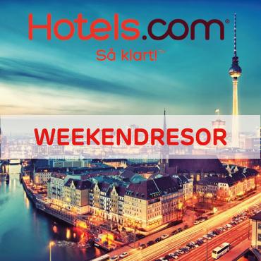 40% + 10% extra rabatt på weekendresor hos Hotels.com