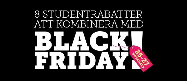 8 studentrabatter att kombinera med Black Friday