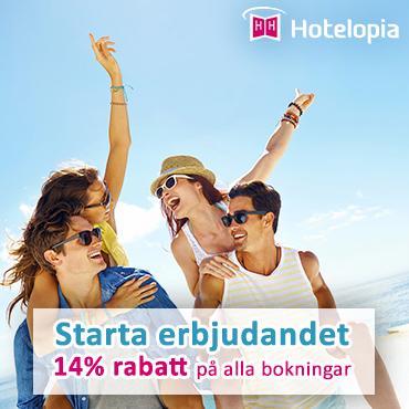 Studentrabatt på 14 % till alla med Studentkortet bokar hotell genom hotelopia.com! Hämta rabatten!